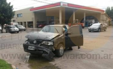 Dos vehículos colisionaron en la avenida General Paz