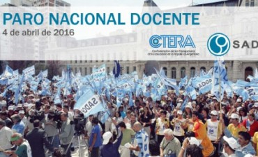 SADOP y CTERA: Paro nacional docente y movilización