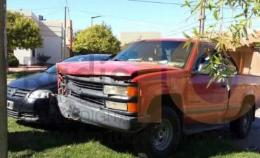 Una conductora fue derivada al hospital 'Capredoni', a raíz de un impacto
