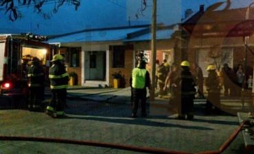 Incendio en una vivienda de calle Alvarado