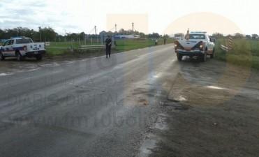¿Accidente o incidente de tránsito? entre un equipo agrícola y una moto