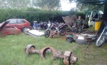 Policía de Pehuajó: se recuperaron autopartes