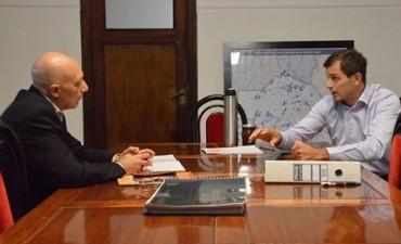 Eduardo Bucca se reunió  con el Director del Hospital, Hugo Mauad