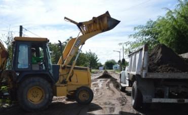 Pavimento Contínuo: Comenzaron los trabajos previos en la calle Río Gallegos