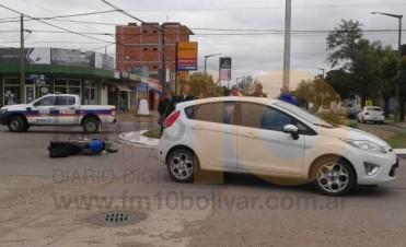 Accidente de tránsito en la Rotonda de la Terminal