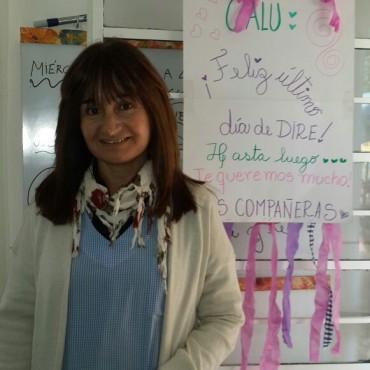 La comunidad del Jardín de Infantes Nº905 se despide de su directora 'Calu' Giles