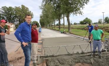 PROGRAMA PAVIMENTO CONTINUO: El intendente Bucca recorrió la ampliación de la Coliqueo