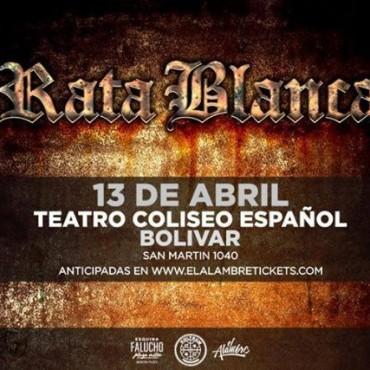 El próximo 13 de abril llega 'Rata Blanca' a Bolívar