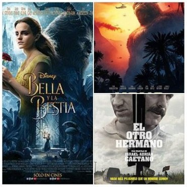 'La Bella y la Bestia' y 'Kong, La Isla Calavera' en el avenida