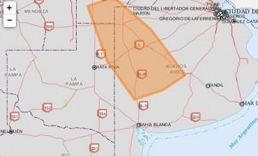 El SMN envía alerta sobre tormentas fuertes en el área que comprende Bolívar
