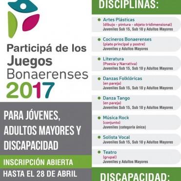 Está abierta la inscripción para los Juegos Bonaerenses 2017