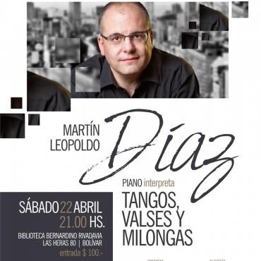 INTERPRETARÁ TANGO, VALS Y MILONGA: El pianista Martín Leopoldo Díaz brindará un concierto