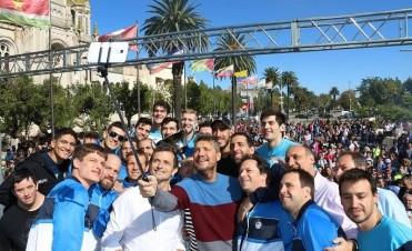 JUNTO A BALI Y MARCELO: Bolívar festejó el triunfo de
