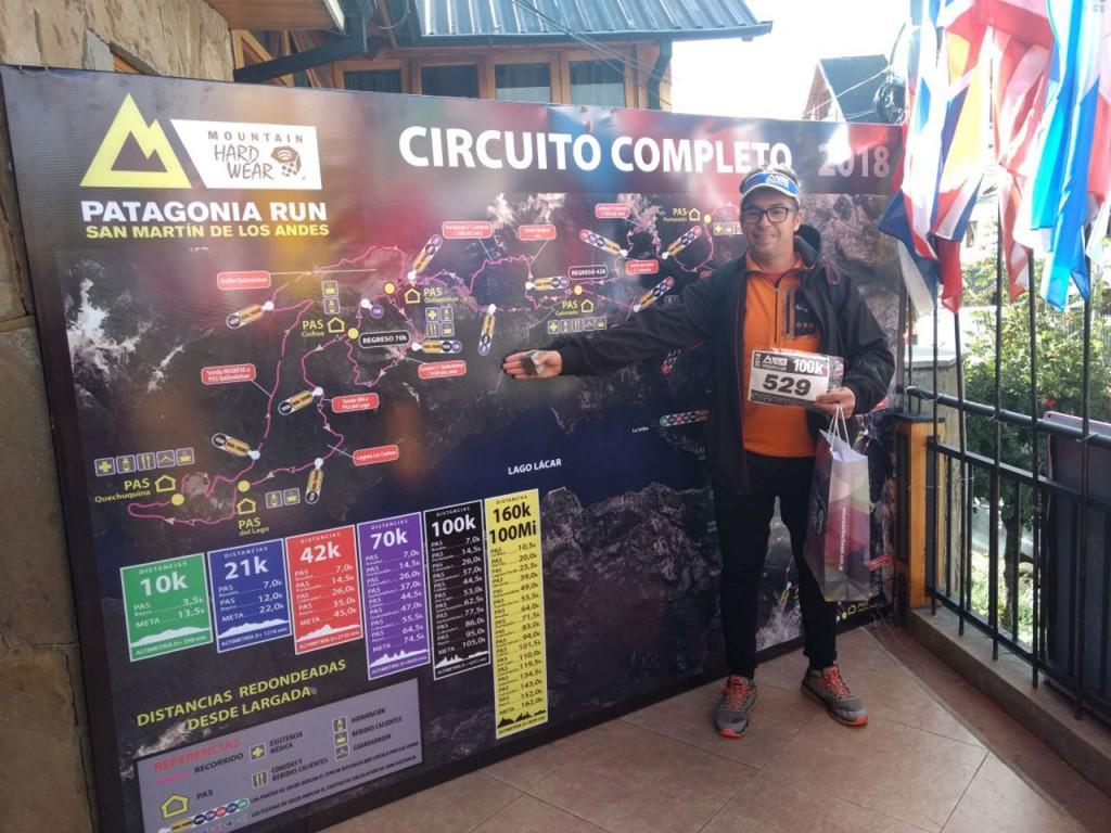 Hugo La Spina corrió 105 km en San Martín de los Andes
