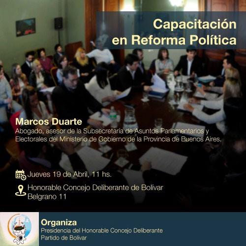 Capacitación en Reforma Política en el HCD