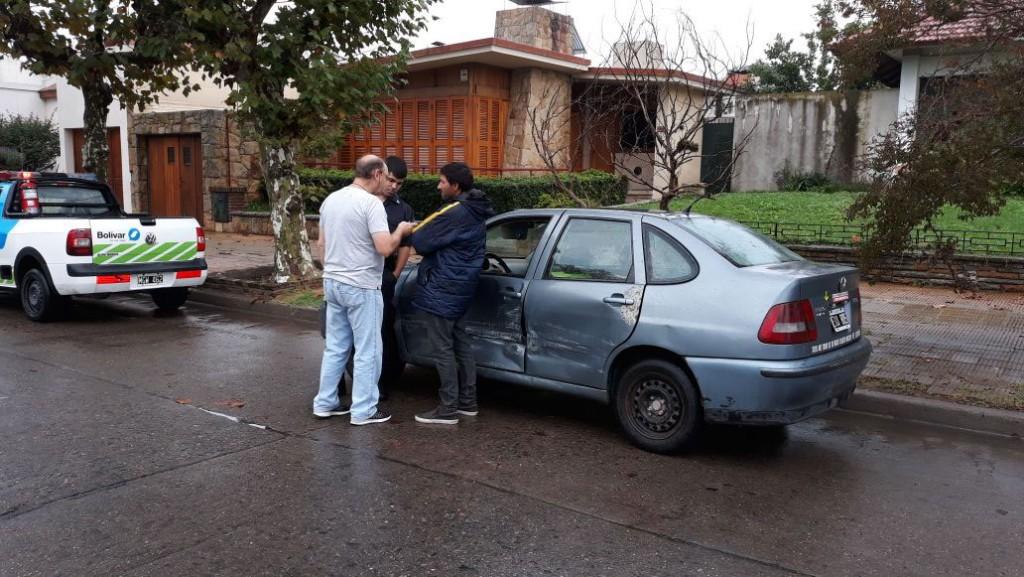 Leve colisión en San Martín y Larrea