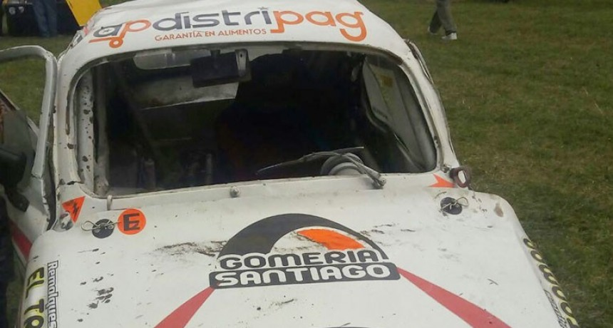 Carlos Casares: Diego Rodríguez sufrió un vuelco en la Promocional 850
