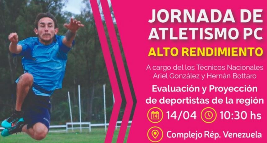 La Selección Nacional de atletismo PC estará en Bolívar y probarán atletas