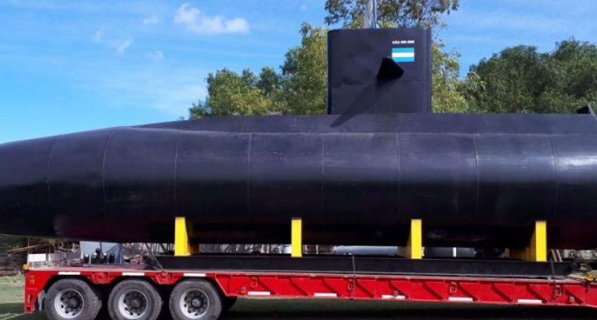 La réplica del submarino Ara San Juan llega a Bolívar este miércoles al mediodía.