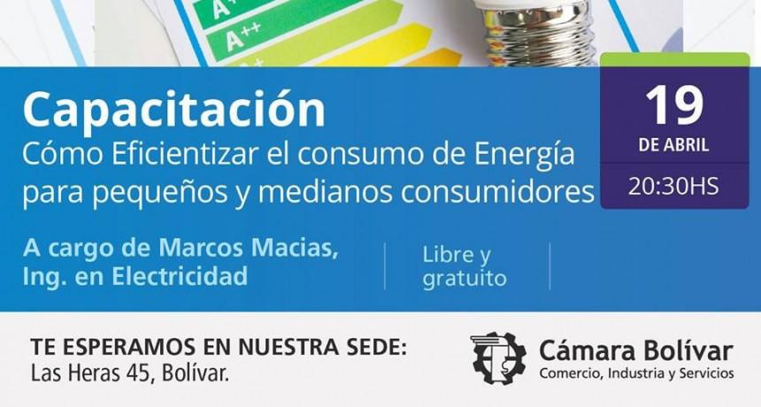 Capacitación en consumo de energía: Se dará en la Cámara Comercial este jueves 19 a las 20.30 horas