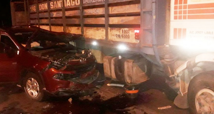 Accidente sin heridos en la rotonda de la Ruta 226