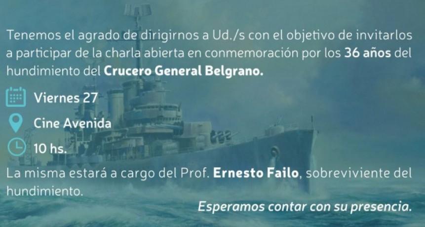 Se realizará una jornada por el hundimiento del crucero Gral. Belgrano