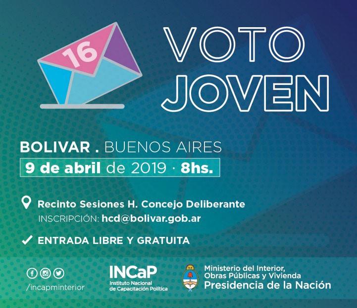 Se realiza en el HCD la jornada Voto Joven