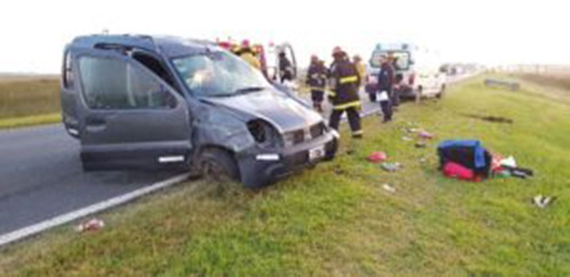 Roque Pérez: Grave accidente en Ruta Nacional 205