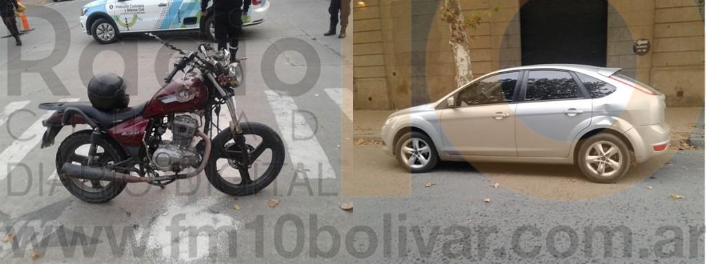 Nuevo accidente de tránsito en la ciudad tuvo como protagonista a una motocicleta