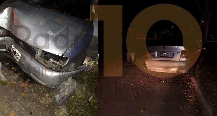 Una mujer fue derivada al hospital tras impactar con su auto contra un árbol