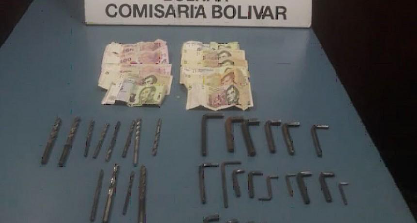Se logró la aprehensión de un sujeto que intentaba vender herramientas robadas