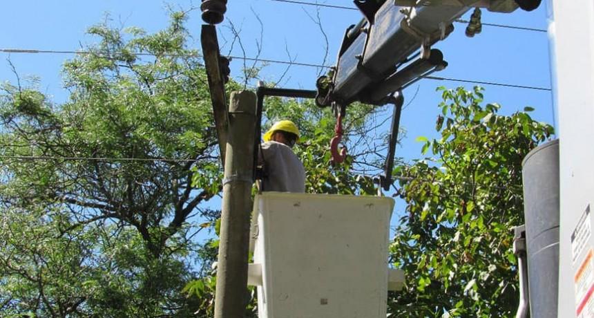 Corte de energía programado; Lunes 15, Zona Rural Miramar