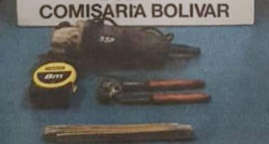 Se recuperaron herramientas robadas de una obra en construcción