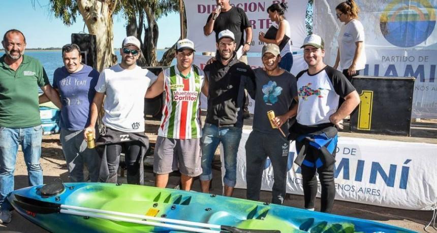 Con participación bolivarenses se realizó el 1º torneo de pesca en kayak en Cochicó