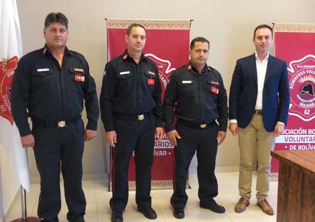 Roque Bazán dejó de ser el jefe del cuerpo activo de Bomberos Voluntarios; Jorge García asume este cargo
