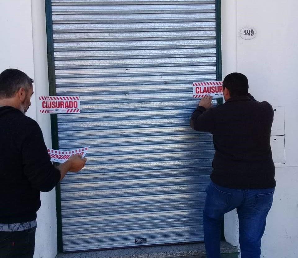 Información Oficial; comercio clausurado en Daireaux