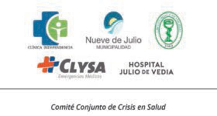 Comité de Crisis 9 de Julio: Se informa que se activo el protocolo en tres personas