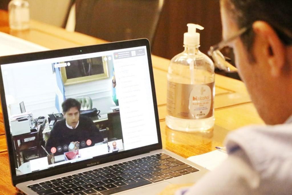 El intendente Pisano mantuvo una videoconferencia con el gobernador Kicillof