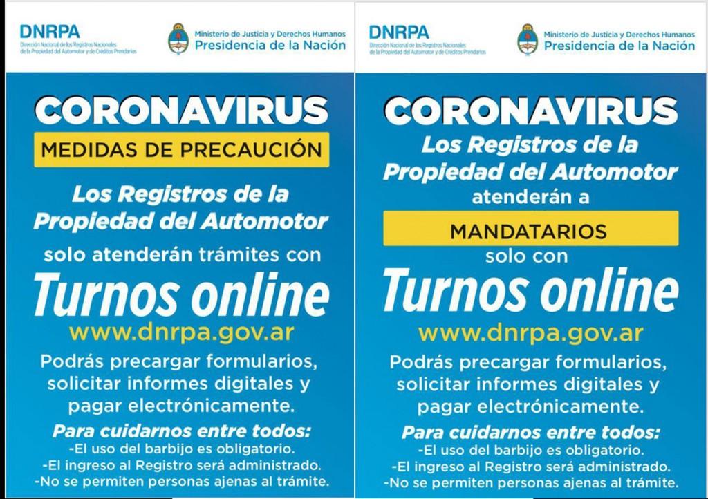 Desde el próximo miércoles reabren los Registros de Propiedad Automotor
