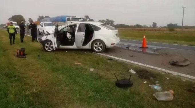 Violenta colisión en Ruta 5 km 213