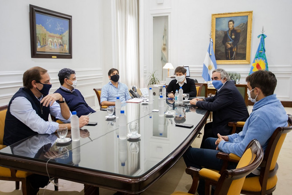 Kicillof con intendentes de Juntos por el Cambio