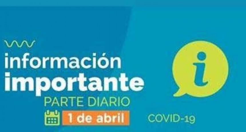 Informe diario oficial; Bolívar sin casos de COVID 19