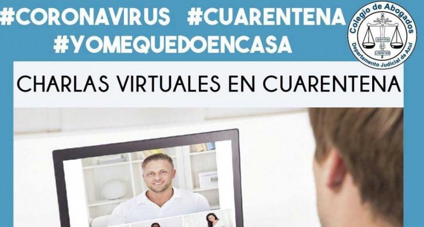 Informe del Colegio de Abogados; Récord de participantes en las charlas virtuales