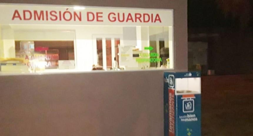 Un módulo de desinfección fue instalado en el acceso a la guardia respiratoria del Hospital Municipal M. Capredoni