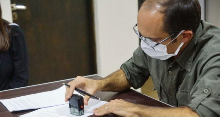 Pisano elevó al gobernador el protocolo con el apoyo político e institucional