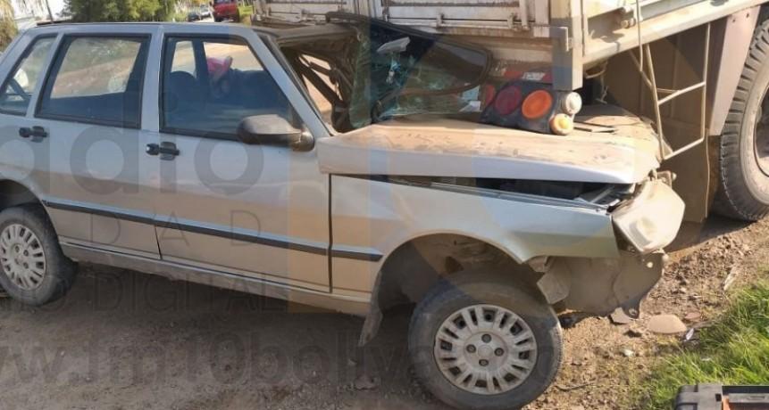 Violento impacto en Ruta 226 km 400; el conductor del automóvil resultó con heridas leves