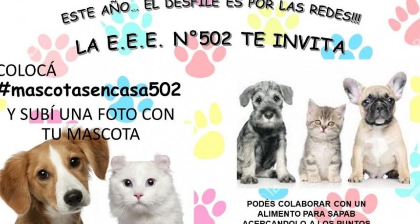 La EEE N.° 502 te invita a participar del clásico desfile de mascotas, este año por redes sociales