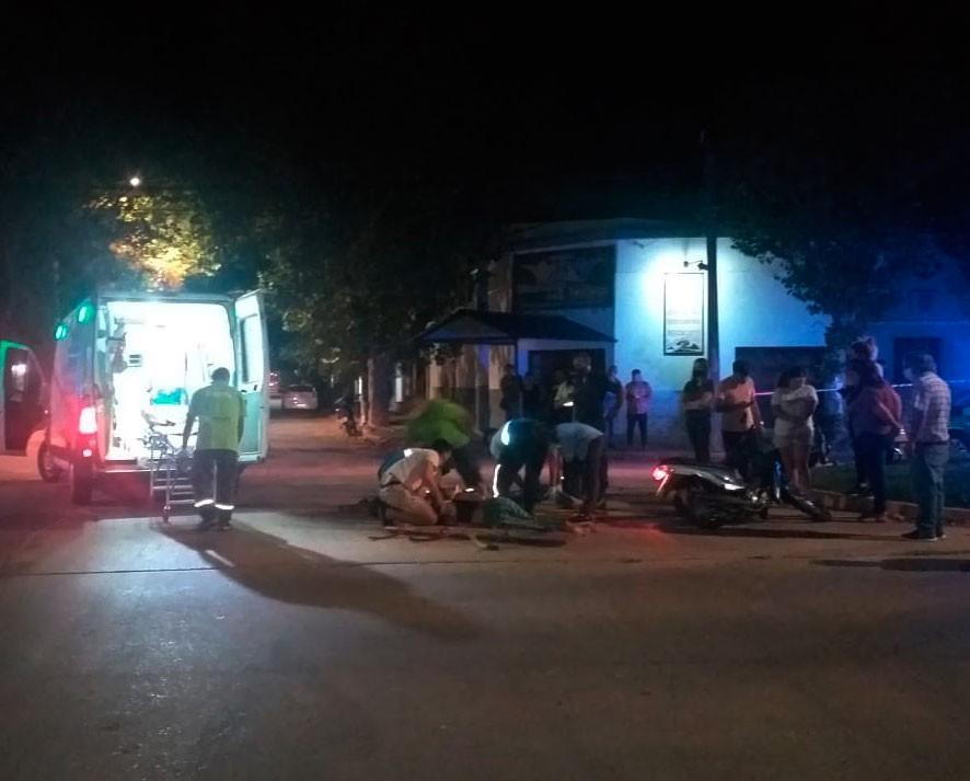 Cuatro jóvenes en protagonizaron un accidente de tránsito
