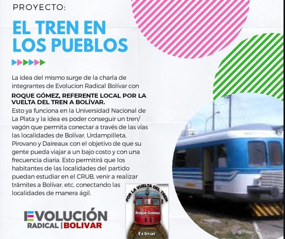 """Evolución Radical inició una campaña virtual de firmas para la implementación del """"Tren de los Pueblos"""""""