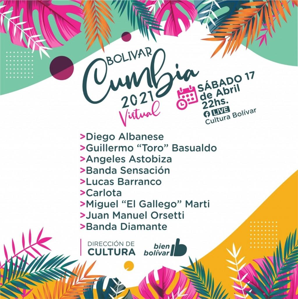 Cultura: Este sábado comienza el festival Bolivar Cumbia 2021 Edición Virtual